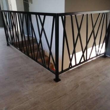 balustrada na schody malowana proszkowo