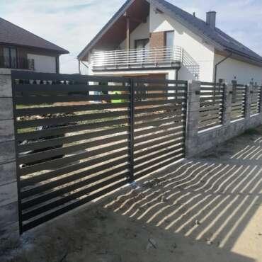 ogrodzenie z paneli palisadowych