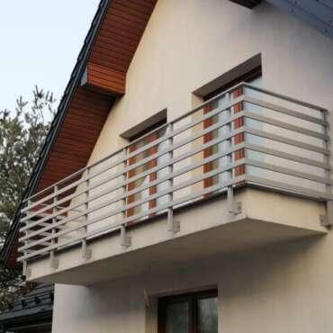 balustrada ze stali nierdzewnej zewnętrzna